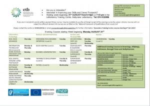 Evening Classes LK Sept 15