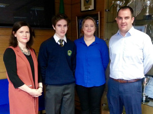 Darragh Harkin, Tanya Morrison, Thomas Boyle and Michelle Bradley
