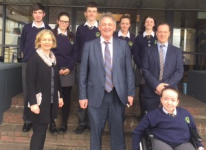 Peter Casey Visits Crana College